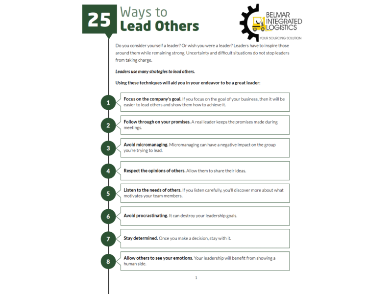 25 Ways to Lead Others